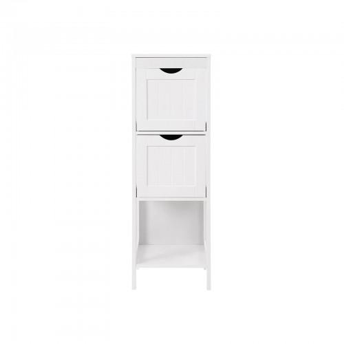 Colore: Bianco ad Angolo in MDF VASAGLE BBC42WT Cassettiera da Bagno 30 x 89 x 30 cm