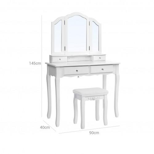 Tavolo da Toletta con Triplo Specchio