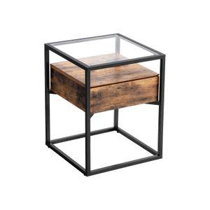 Tavolino con Piano in Vetro Temperato