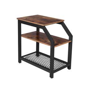 Tavolino a 3 Ripiani in Stile Industriale