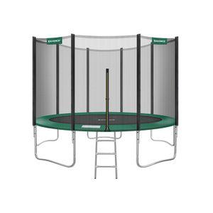 Trampolino da 427 cm (14 piedi) Nero e Verde Scuro