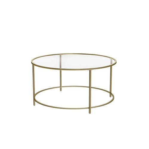 Tavolino Rotondo con Piano in Vetro
