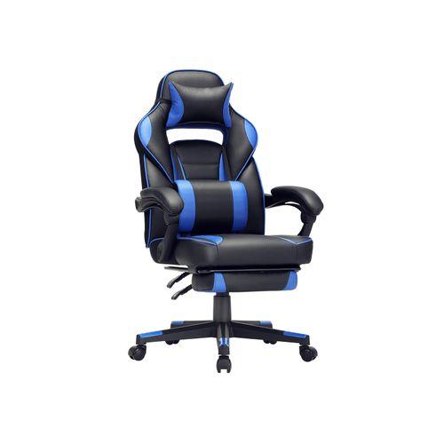 Sedia da Ufficio Nero e Blu