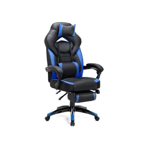 Sedia Gaming Nera e Blu