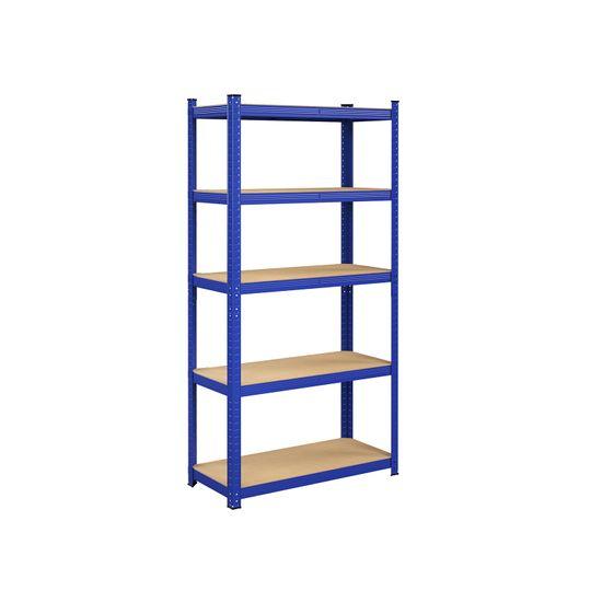 Scaffalatura a 5 Ripiani 200 x 100 x 50 cm Blu