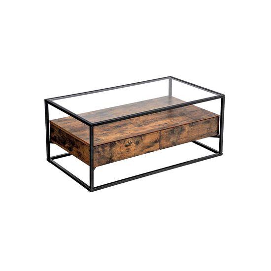 Tavolino da Caffè con Piano di Vetro