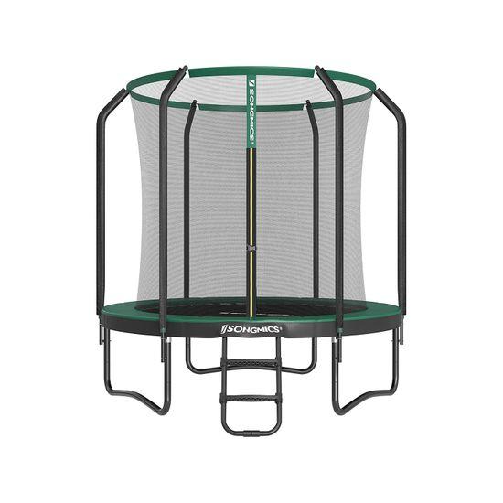 Trampolino da 305 cm Nero e Verde Scuro